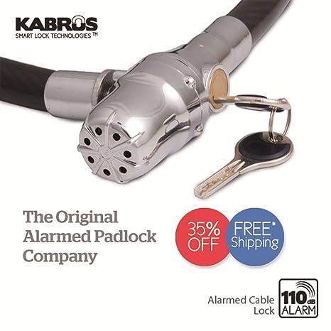 Kabrus - Cadena con candado y alarma para motos, bicicletas ...