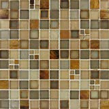 M S International Manhattan Blend 12 In. X 12 In. X 8mm Glass Mesh-Mounted Mosaic Wall Tile, (10 sq. ft., 10 pieces per case)