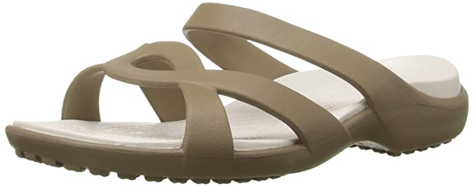 crocs Women's Meleen Twist Fashion Sandals Women's Fashion Slippers at amazon
