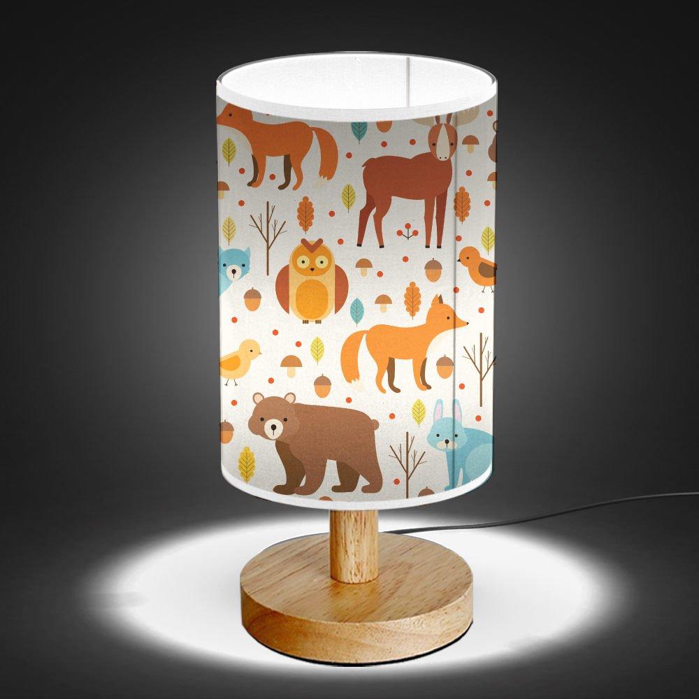 ArtLights - Wood Base Decoration Desk / Table / Bedside Lamp [ Forest Animals ] by ArtLights (Image #2)