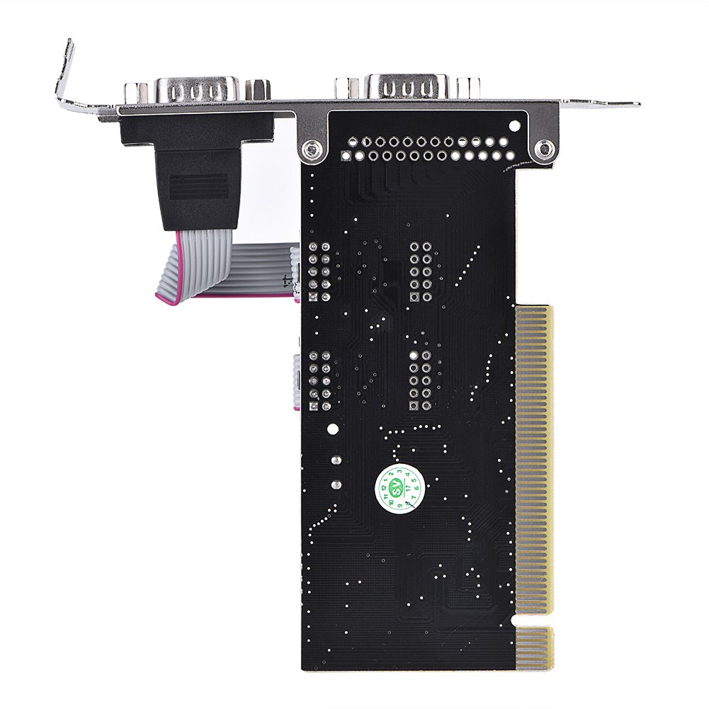 fosa Plug and Play PCI to Dual Serial DB9 RS232 RS-232 2 Port Extension Adapter Card for Desktops, Support 32-bit PCI Bus, Parity Bit, Flow Control by fosa (Image #6)