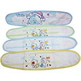 Liitrton 4 PCS Cartoon Pattern Cotton Baby Infant Umbilical Cord Belly Band for 0-12 Months (Random Color)