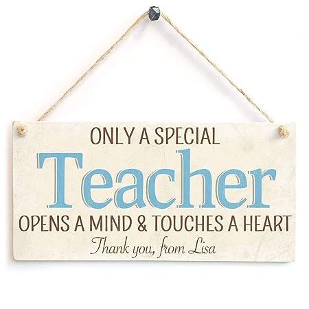 ECONG Only A Special Teacher Opens A Mind Placa de Madera ...