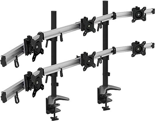 Viisan MP260C-N - Soporte de Mesa para monitores 3+3 de 15