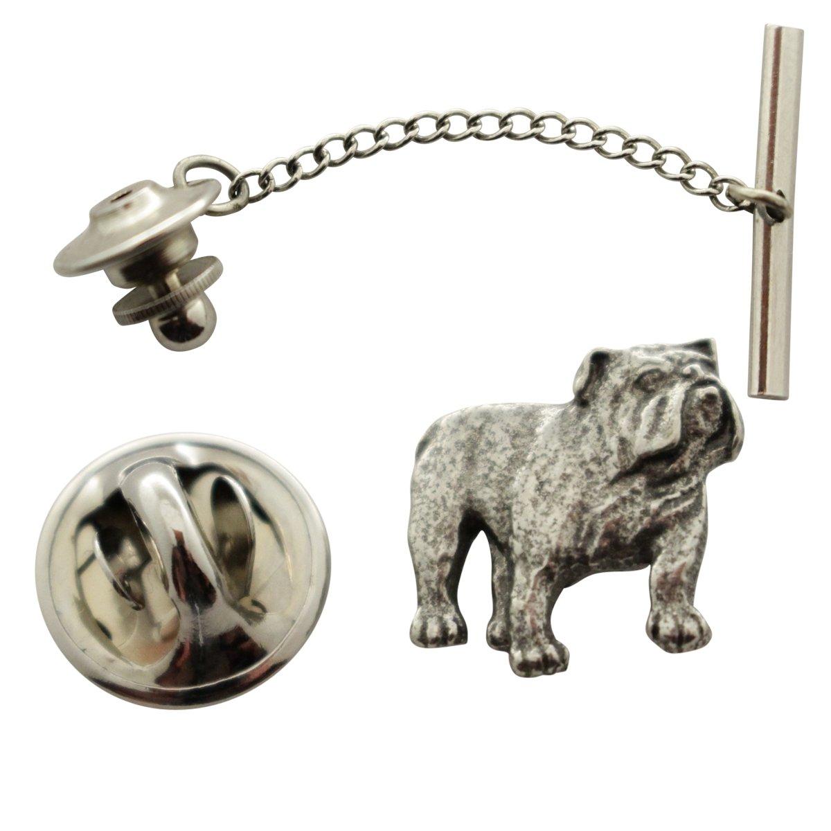 French Bulldog Tie Tack ~ Antiqued Pewter ~ Tie Tack or Pin ~ Sarah's Treats & Treasures by Sarah's Treats & Treasures (Image #1)