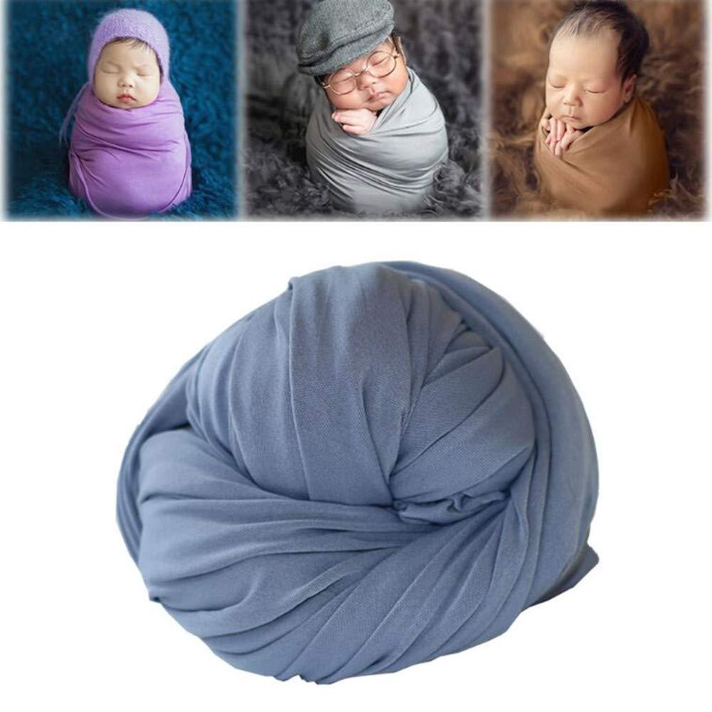 Turkoni Newborn Baby Cotton Stretch Wrap Blanket Photography Props Boy Girl Costume
