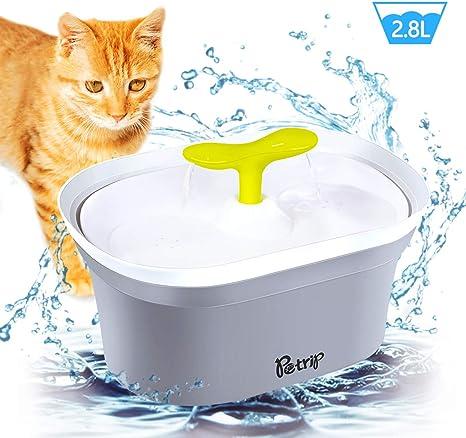 Amazon.com: PETRIP - Dispensador de agua para gatos, 2,8 l ...