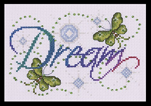 Tobin DW9797 14 Count Dream Counted Cross Stitch Kit, 5 by - Dreams Cross Stitch