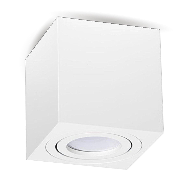 Trendig Aufbauleuchte Deckenleuchte Aufputz MILANO 7W LED Warmweiss GU10  KC02