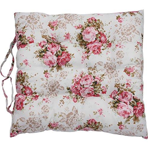 "Vanki Soft Chair Pad Cushion 14""x14"",Full Bloom Flower Style"