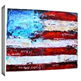 ArtWall Jolina Anthony 'America' Gallery Wrapped Canvas Artwork, 24 by 32-Inch