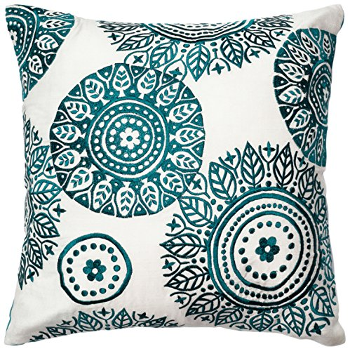 dset loloi ivoryteal decorative accent pillow
