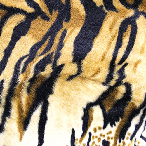 Tiger Gold Velboa Faux Fur Animal Short Pile Fabric - Sold By The Yard (FB)