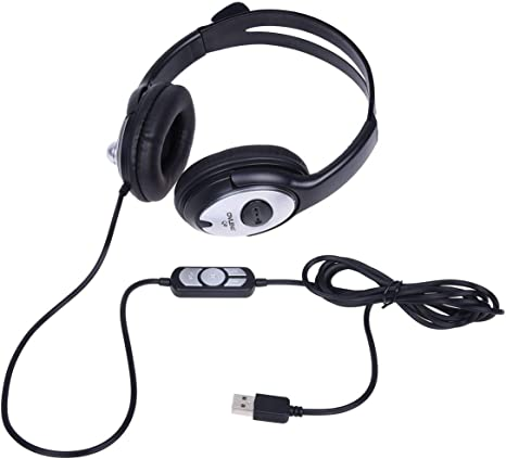 OVLENG Q2 USB Stereo Headphone Earphone with MIC for Gaming Console Surround Sound PC Headset