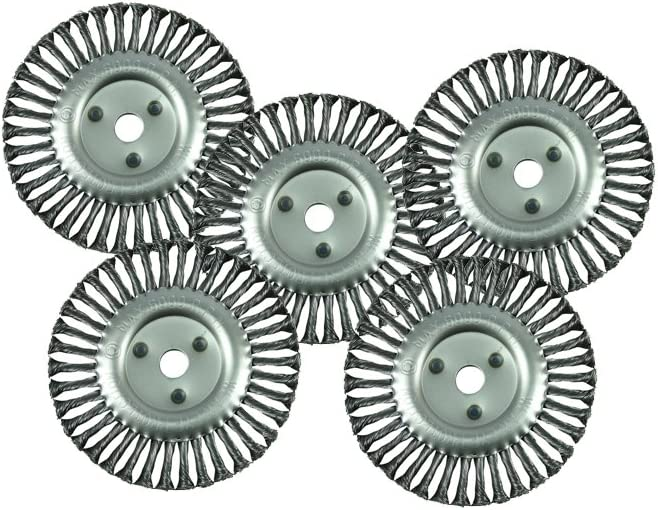 """5 pcs 8/"""" Wire Wheel Brush Crack Cleaning Sealcoating fits Billy Goat Grazor"""
