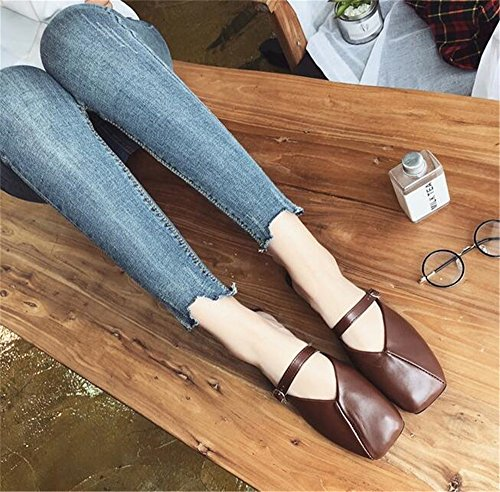 Business On Slip Mule Brown Slipper Loafer Women Dressy Slide Flat Work Casual Mule WwqBngHAO