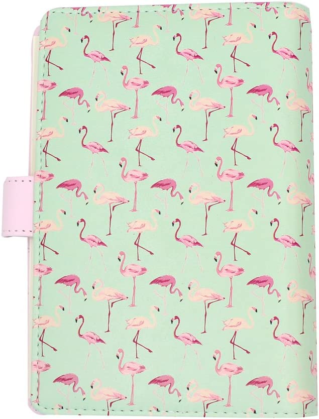 Eilova Animal Printed PU Leather 6-Ring Binder Business Writing Refillable Notebook 6-Hole Personal Travel Journal Diary Loose Leaf Notepad A6, with Ruled Inner Paper