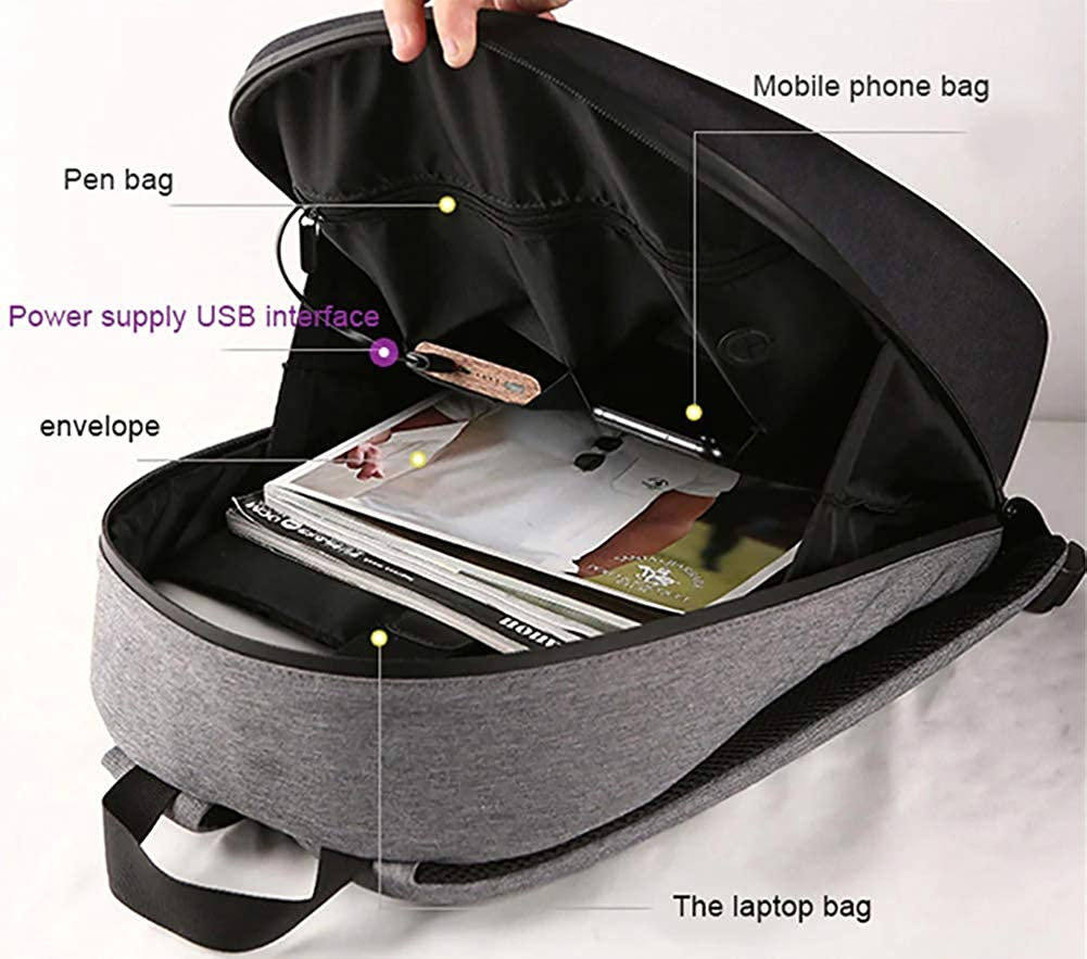 Smart LED Backpack Cool Black Customizable Laptop Backpack Fashion DIY Backpack