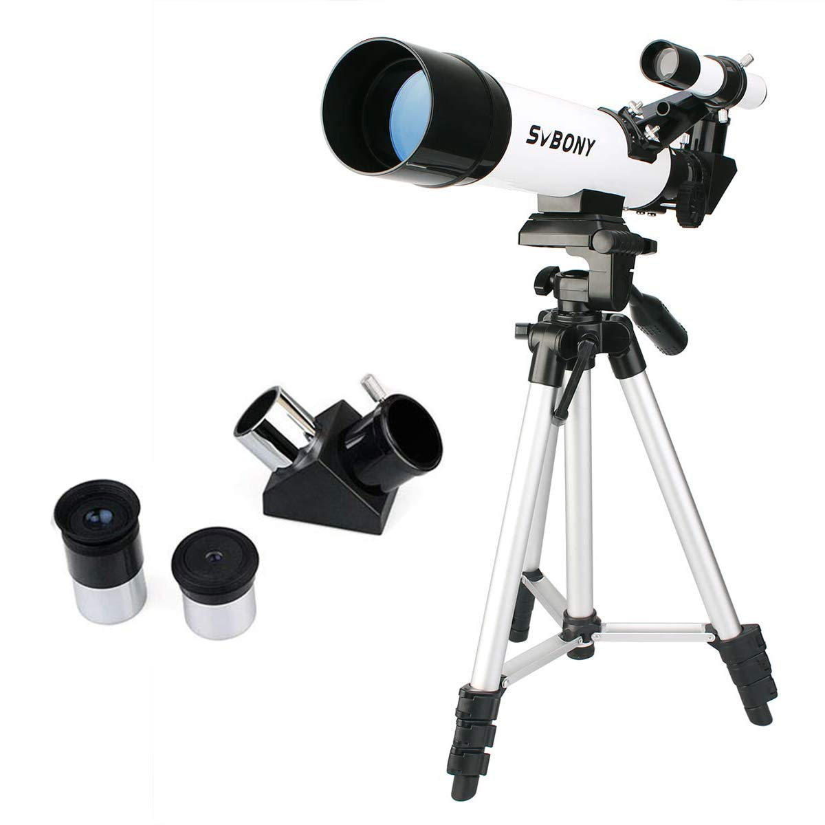 SVBONY SV25 Kids Telescope for Beginner Adult 60mm Travel Scope with Tripod Eyepiece Finder Scope by SVBONY