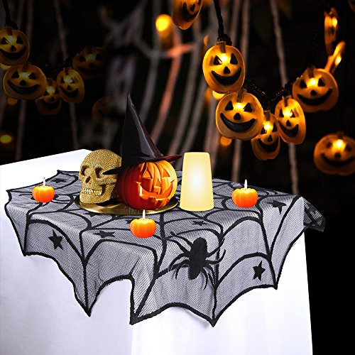 Halloween table cloth (spider web)