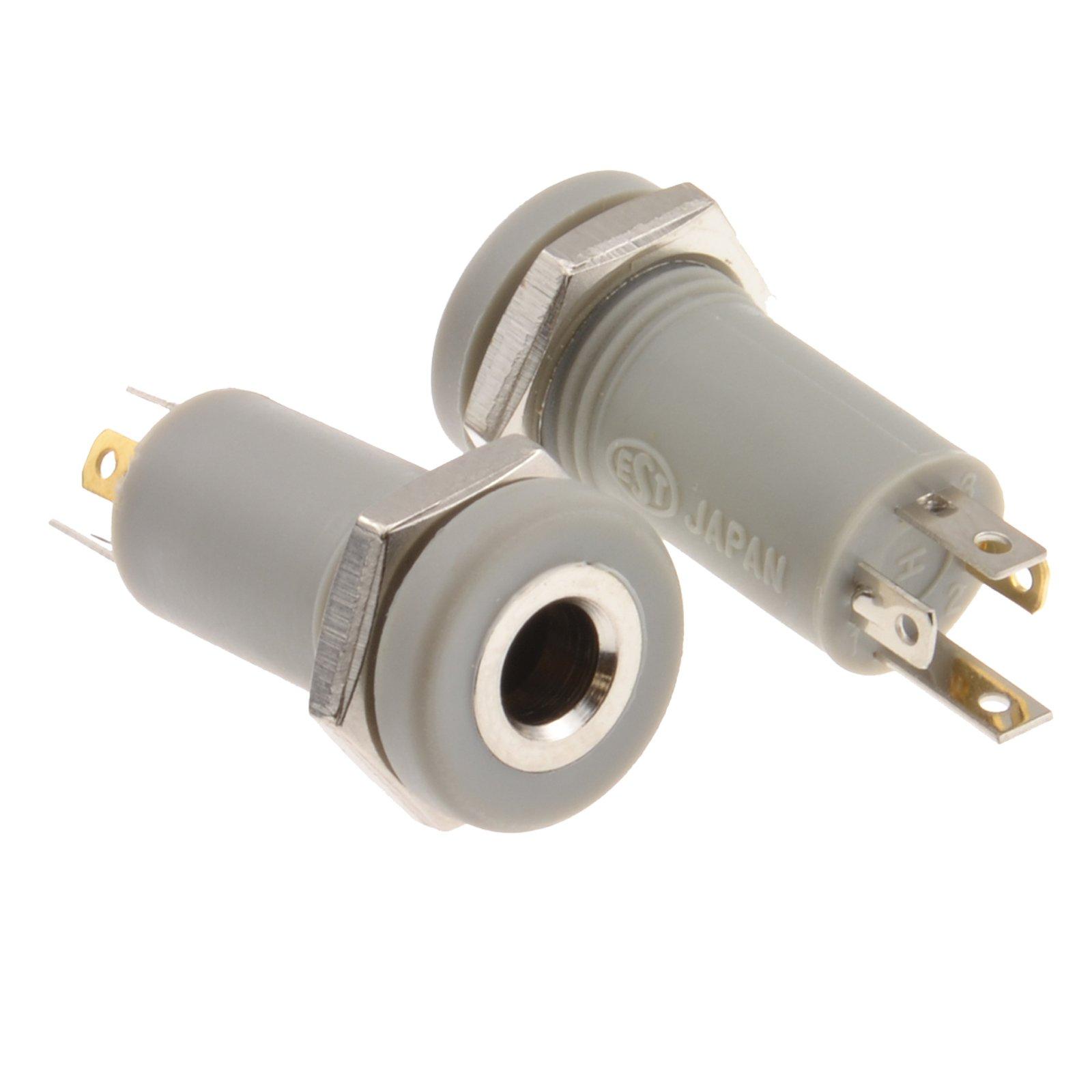 kenable 3.5mm Jack 4 Pole Solder Panel Mount Terminal AV Adapter [2 Pack]