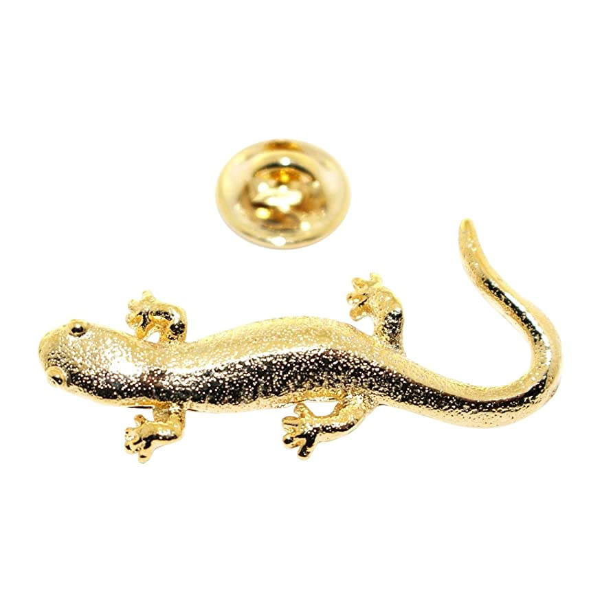 Amazon.com: Salamander Pin ~ 24K Gold ~ Lapel Pin ~ Sarah\'s Treats ...