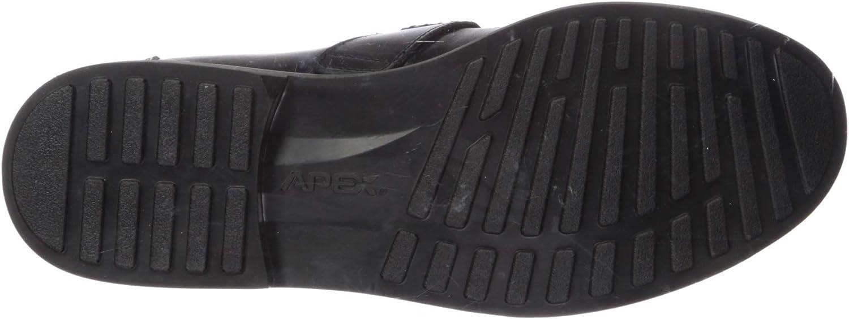 Apex Mens Lexington Strap Loafer Black Sneaker