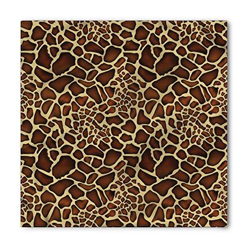 Ambesonne Unisex Bandana, Zambia Giraffe Skin Pattern, Yellow Redwood ()