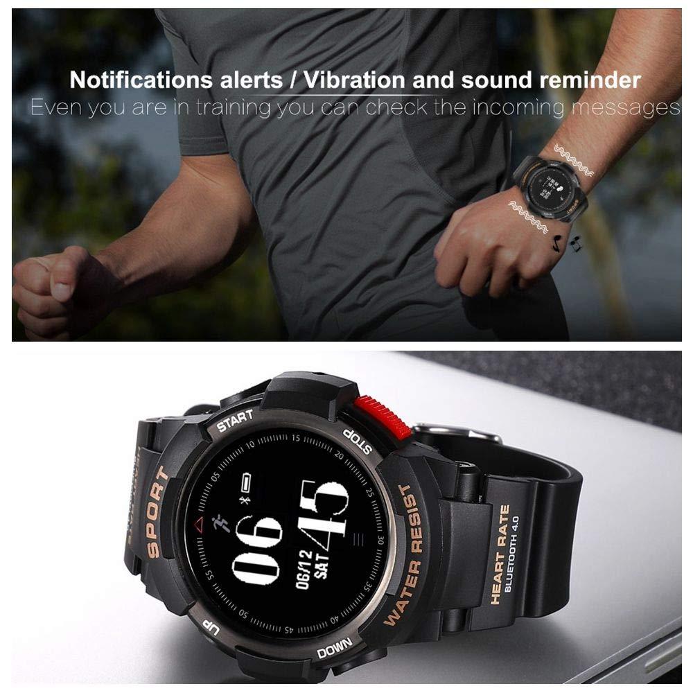 Amazon.com : No.1 F6 Smartwatch IP68 Waterproof Bluetooth ...