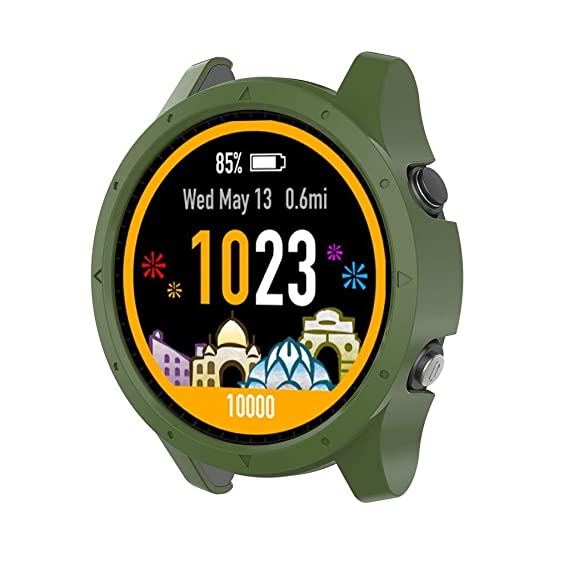 DIPOLA Carcasa Cubierta Shell Silicona Protectora para Garmin Forerunner 935 SmartWatch —Ejercito Verde