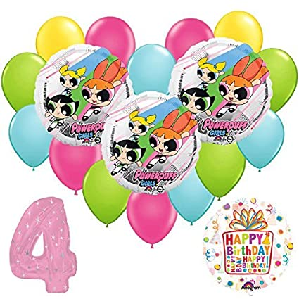 Amazon.com: Powerpuff Girls 4 A globo de fiesta de ...