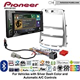 Volunteer Audio Pioneer AVH-501EX Double Din Radio Install Kit with DVD/CD Player Bluetooth Fits 2009-2012 Hyundai Genesis (Silver) (Automatic A/C controls)