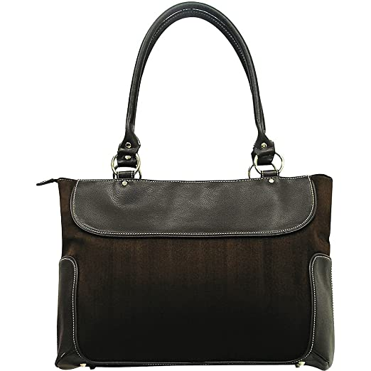 G. Pacific Venetian 17.5 in. Ladies Business Zip-Top Casual Laptop Tote Bag