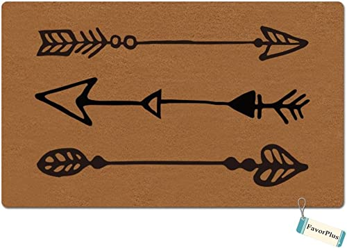 FavorPlus Arrows Funny Entrance Custom Doormat Door Mat Machine Washable Rug Non Slip Mats Bathroom Kitchen Decor Area Rug 15.7×23.6 inch