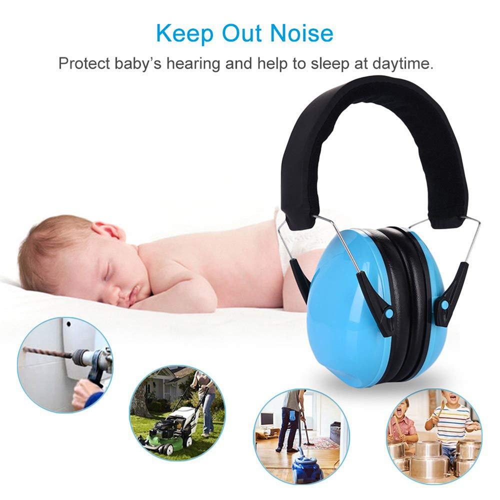 pink Kids Earmuffs//Hearing Protectors Earmuffs Infant Hearing Protection Foldable Design Ear Adjustable Padded Headband for,Soundproof earmuffs for Toddlers Kids Children Teens