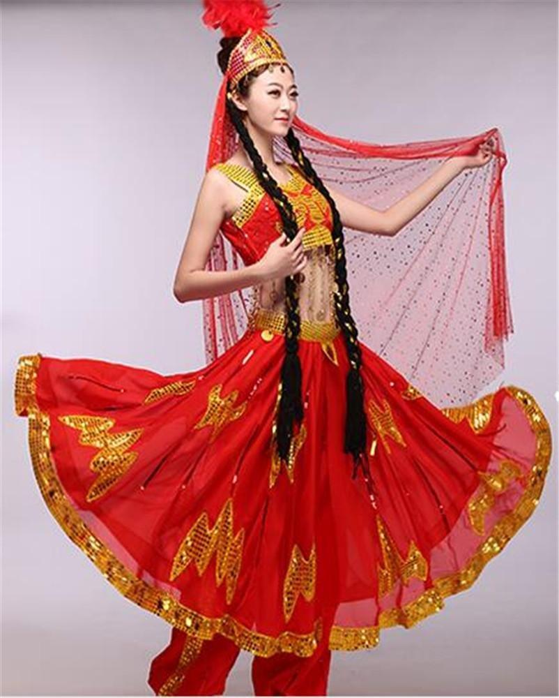 Rouge peiwen Costume de Costume de Danse féminin Danse Classique Spectacle de scène Spectacle de Danse M