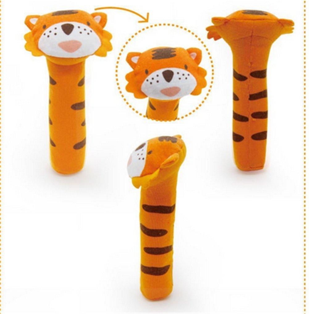 Juguetes suaves para recién nacido, modelo animal, mancuernas de peluche, bonito regalo para bebé, juguete de 0 a 12 meses Calf: Amazon.es: Bebé