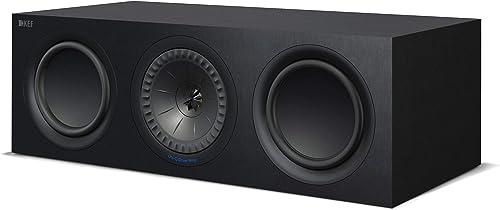 KEF Q650c Center Channel Speaker Each, Black