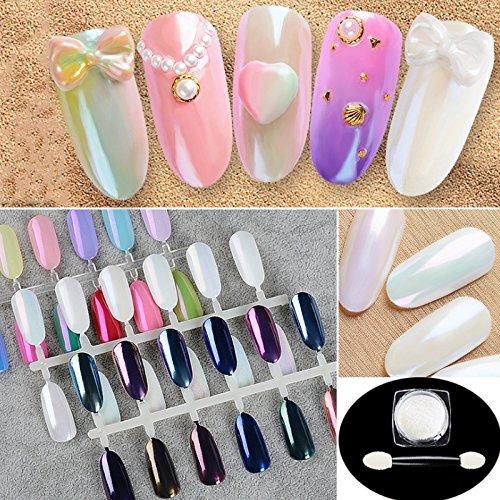 PrettyDiva 7 Jar Pearl Powder Mirror Effect Chrome Nail Powder Metallic Nail Manicure Pigment by Pretty Diva (Image #8)