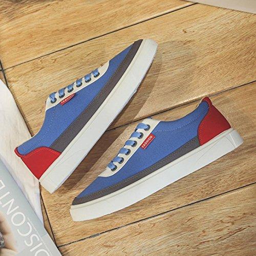 Zapatos Deportivos Hatop Para Hombres, Zapatos De Viaje De Primavera Zapatos Ocasionales De Patchwork Zapatillas De Deporte Con Cordones Azules