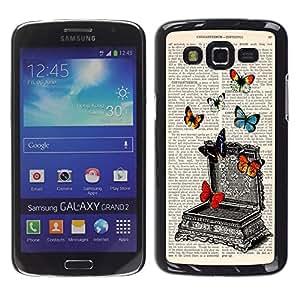 Dragon Case - FOR Samsung Galaxy Grand 2 - book of the butterfly - Caja protectora de pl??stico duro de la cubierta Dise?¡Ào Slim Fit