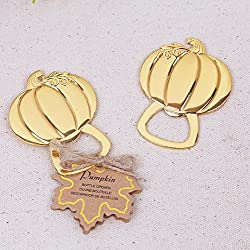 36pcs Halloween Themed Gold Pumpkin Bottle Opener For Wedding Party Favor
