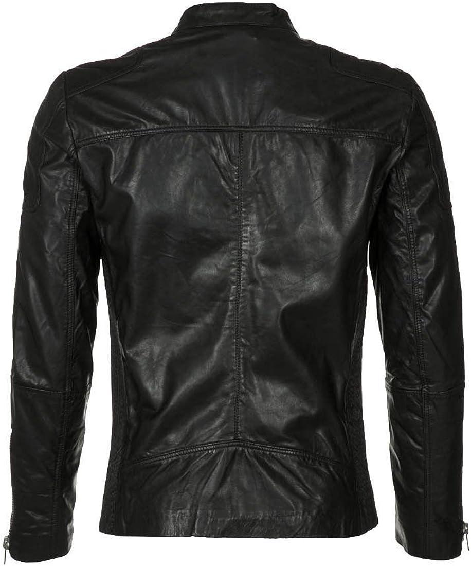 Travel Hide Mens Leather Jacket Motorcycle Genuine Lambskin Biker Jacket TM059