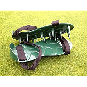 Lawn Spike Aerator Shoes / Sandals British designed and manufactured for maximum aeration Patented Heavy Duty Unbreakable SuperTough Nylon Spikes for Ever Lasting Use