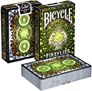 Bicycle Playing Cards Fireflies Design   Limited Edition Deck Pitch-Black with Glowing Effects