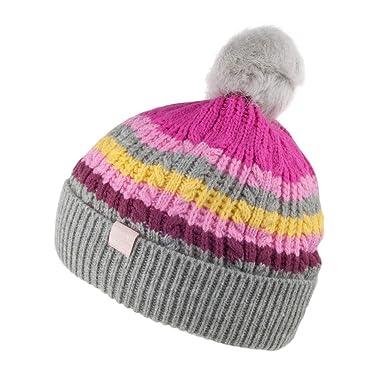 690b24f31d8 Joules Girl s Bobble Hat  Amazon.co.uk  Clothing