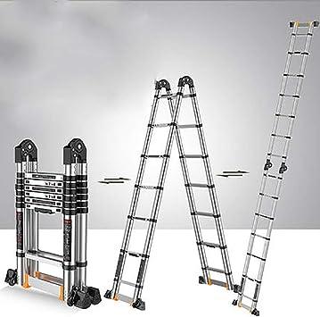 Aluminio Aleación Telescópico Escalera,extensión Escalera Multifunción Escalera Portátil Plegables Extensible Escaleras De Mano Multi Propósito Escalera-a5 3.3+3.3m: Amazon.es: Bricolaje y herramientas