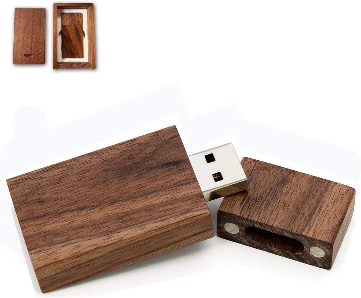 Personalized USB Thumb Drive Custom Photography Wedding USB Drive 5 Fast 32GB Walnut Wood 3.0 USB Flash Drive