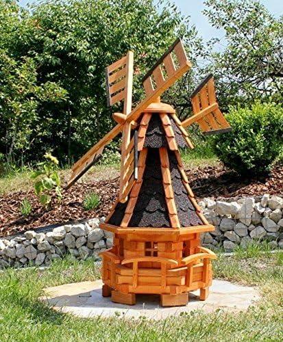 Molino de viento de jardín con luz solar Negro Tipo 11: Amazon.es: Jardín