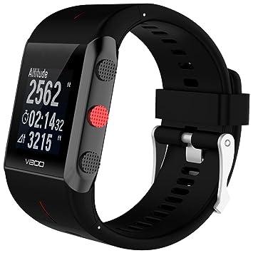 Correas para Polar Reloj Sannysis Reemplazo de Banda de Reloj de Goma de Silicona para Polar V800 (Negro): Amazon.es: Deportes y aire libre